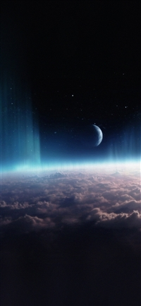 Space interstellar iPhone X wallpaper