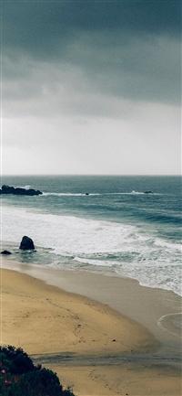 Sea beach iPhone X wallpaper