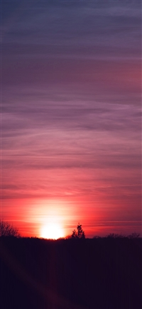 Sky sunset night summer cloud iPhone X wallpaper
