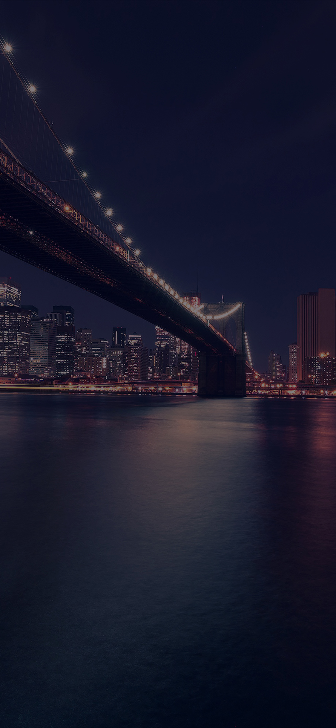 City night river iPhone X wallpaper