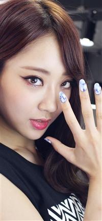 Girl nail cute iPhone X wallpaper