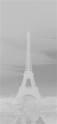 Eiffel tower france white iPhone X wallpaper