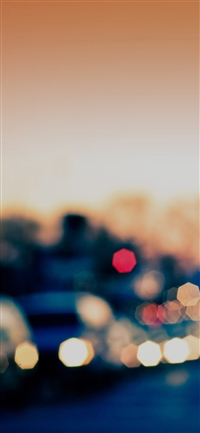 Drunken town bokeh pattern iPhone X wallpaper