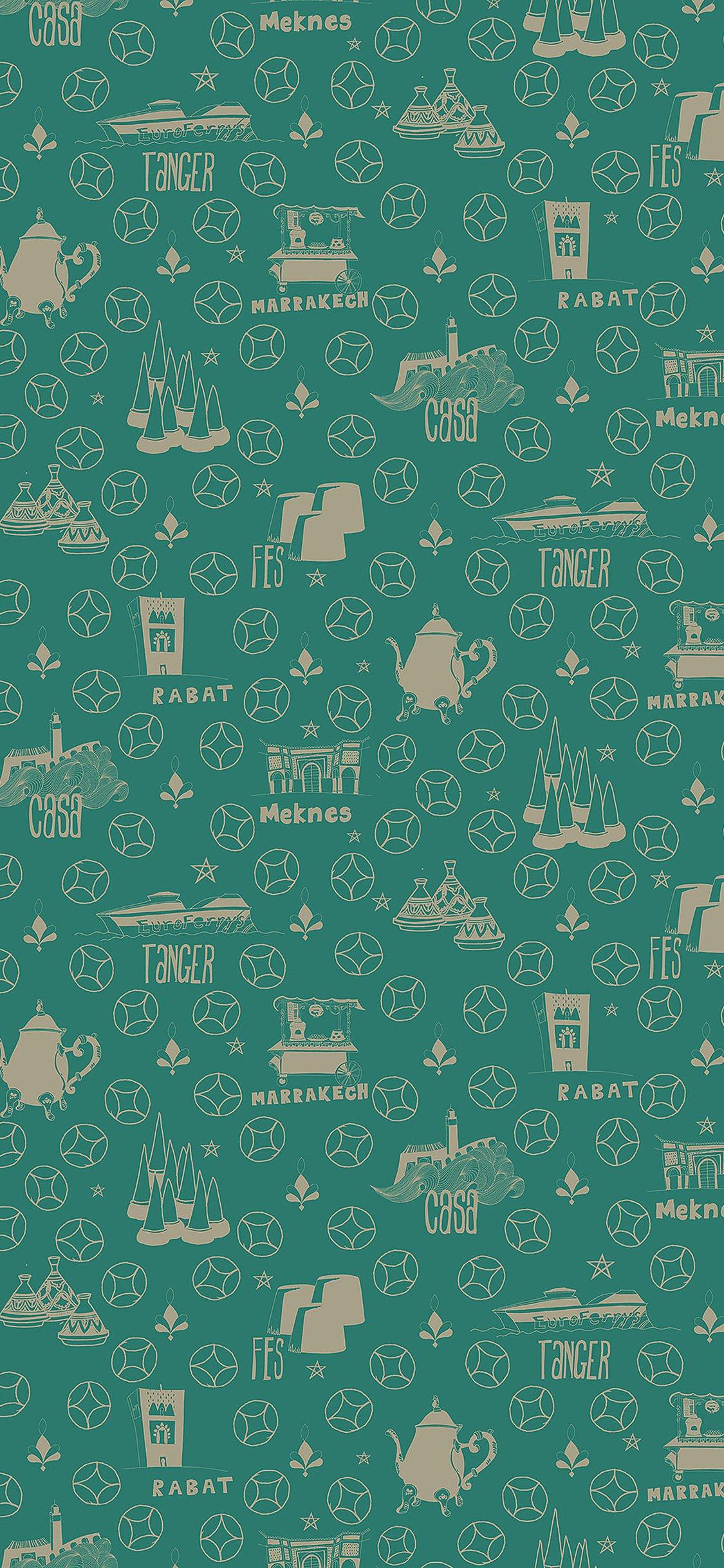 Cyan pattern background iPhone X wallpaper
