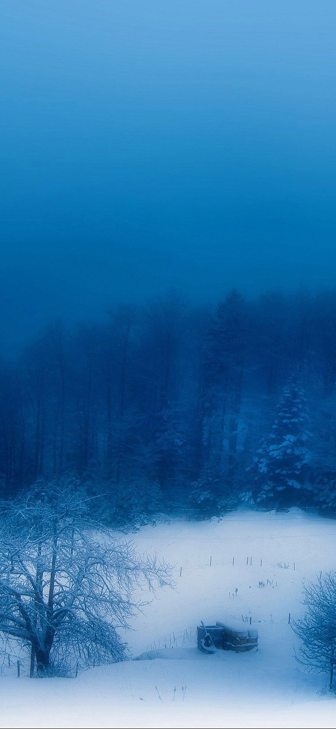 Blue snow mountain iPhone X wallpaper