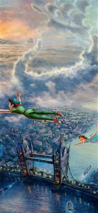 Peterpan illust art iPhone X wallpaper