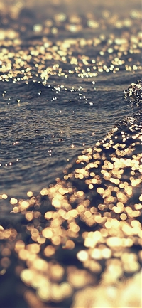 Gold sea water iPhone X wallpaper