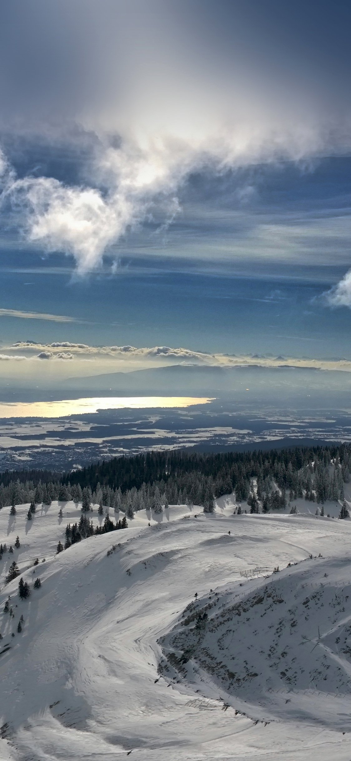 Snow mountain iPhone X wallpaper