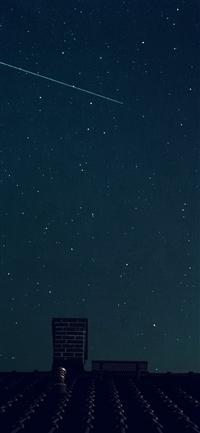 Star night sky summer iPhone X wallpaper