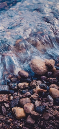 Stone blue washed river iPhone X wallpaper