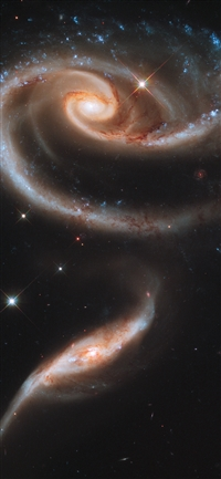 Galaxy universe space dark iPhone X wallpaper