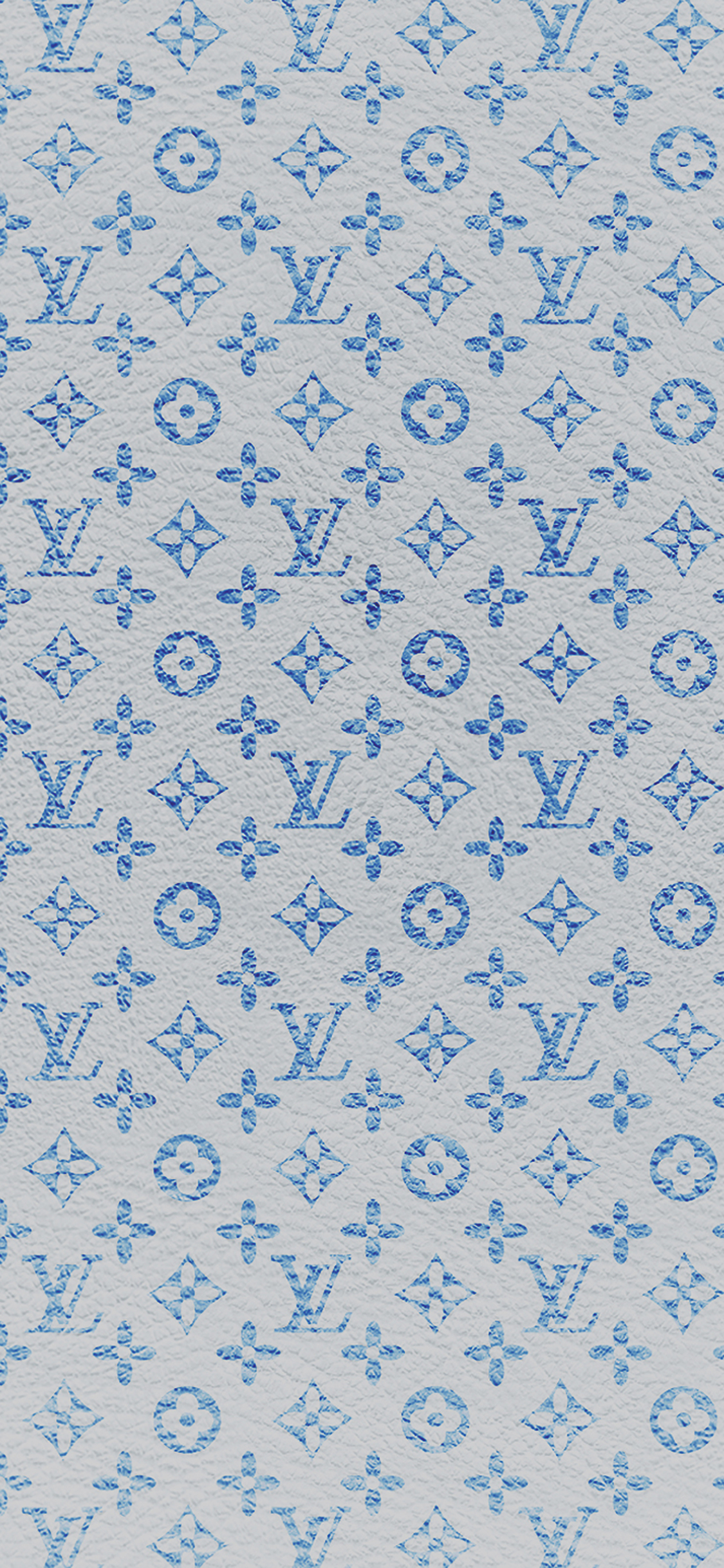 Louis Vuitton blue pattern art iPhone X wallpaper