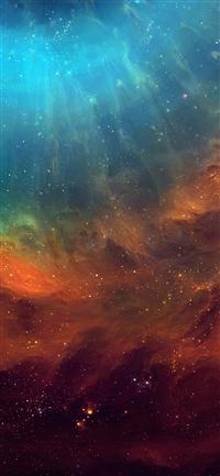 Galaxy eye space iPhone X wallpaper
