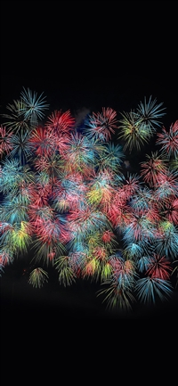 Firework art pastel night dark color iPhone X wallpaper
