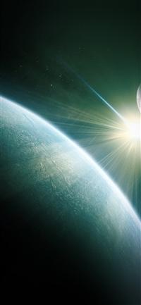 Dark space world earth star iPhone X wallpaper