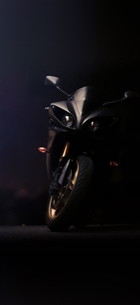 Yamaha ride motorbike iPhone X wallpaper