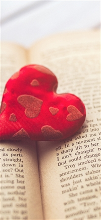 Heart love book iPhone X wallpaper