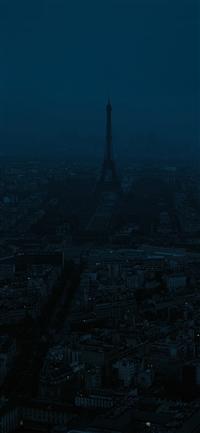 Paris dark blue city iPhone X wallpaper