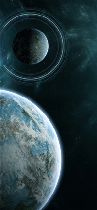 Planet space star iPhone X wallpaper