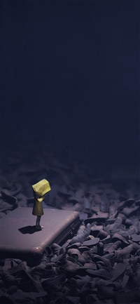Little nightmares dark iPhone X wallpaper