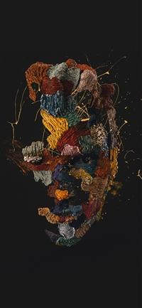 Face dark illustration art iPhone X wallpaper