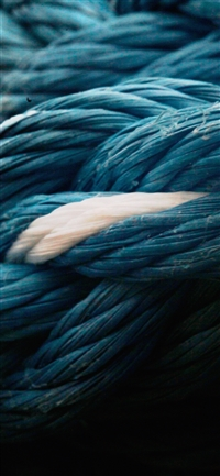 Rope blue knot texture iPhone X wallpaper
