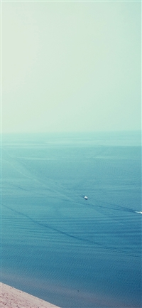 Sea blue sky clear summer iPhone X wallpaper