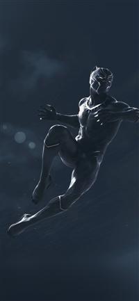 Marvel black panther dark art illustration iPhone X wallpaper