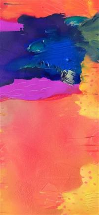Painting art pattern rainbow iPhone X wallpaper