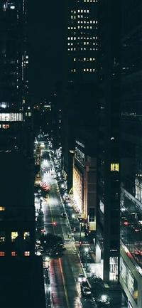 City night traffic dark iPhone X wallpaper