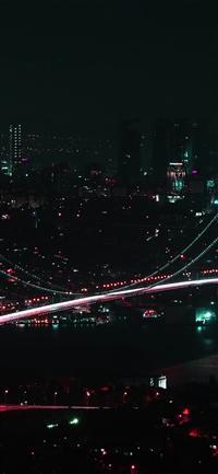 City view dark night iPhone X wallpaper