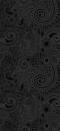 Design flower line dark pattern iPhone X wallpaper