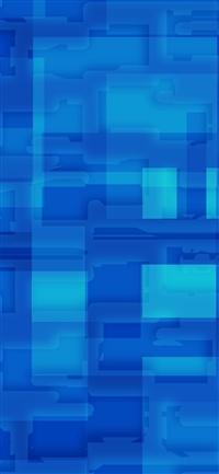 Square world pattern blue iPhone X wallpaper