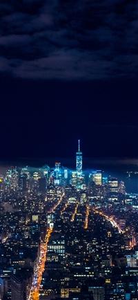 City night skyline dark iPhone X wallpaper