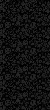 Emoticon charms pattern iPhone X wallpaper