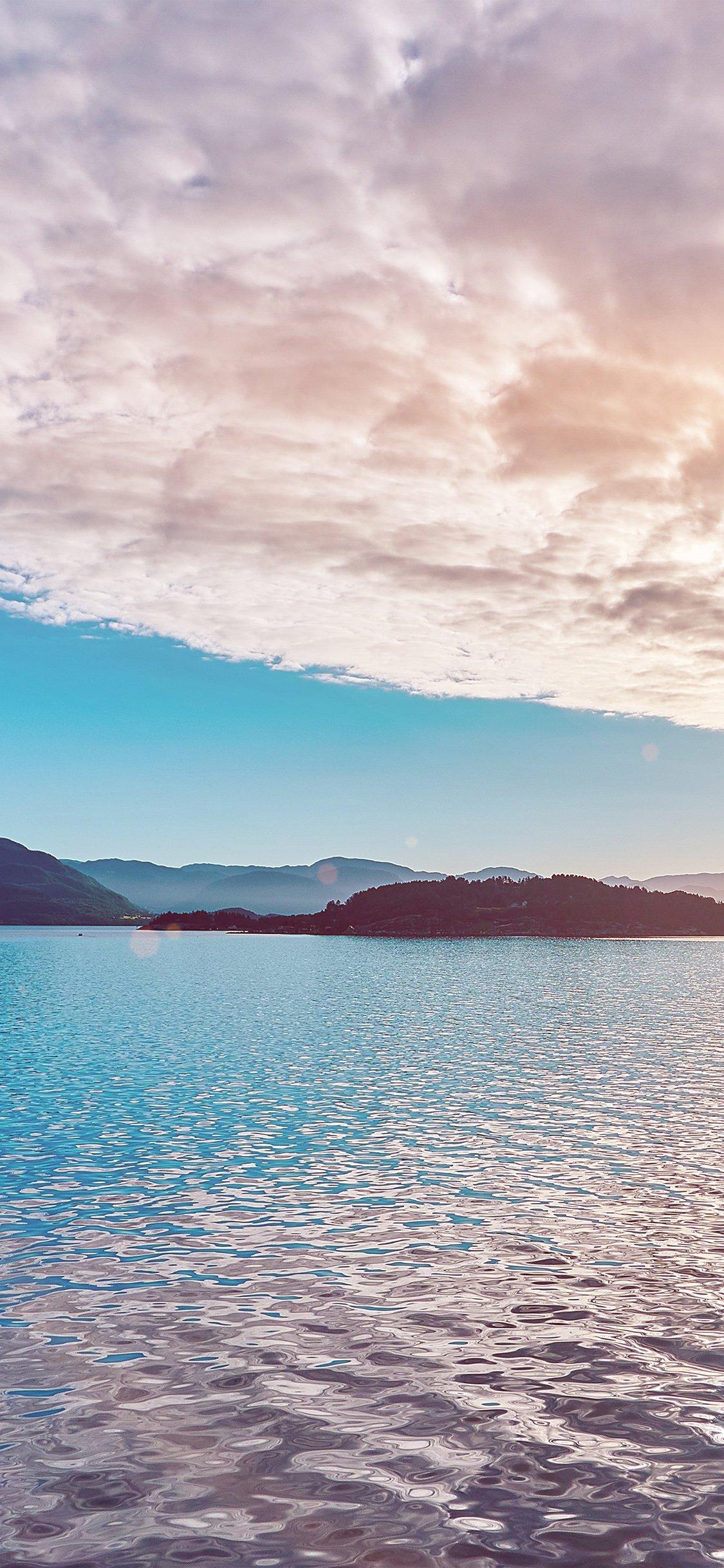 Nature blue healing iPhone X wallpaper