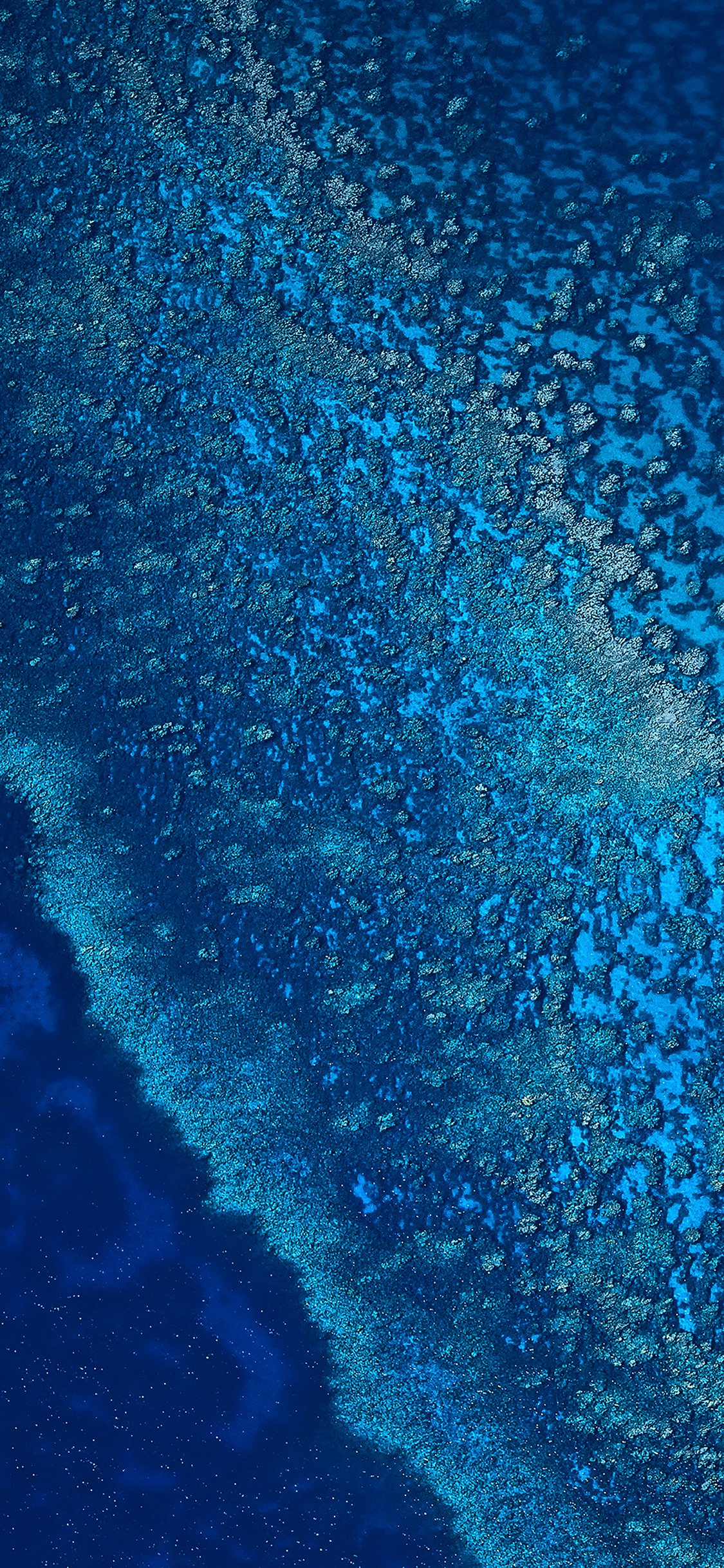 Blue sea ocean from sky iPhone X wallpaper