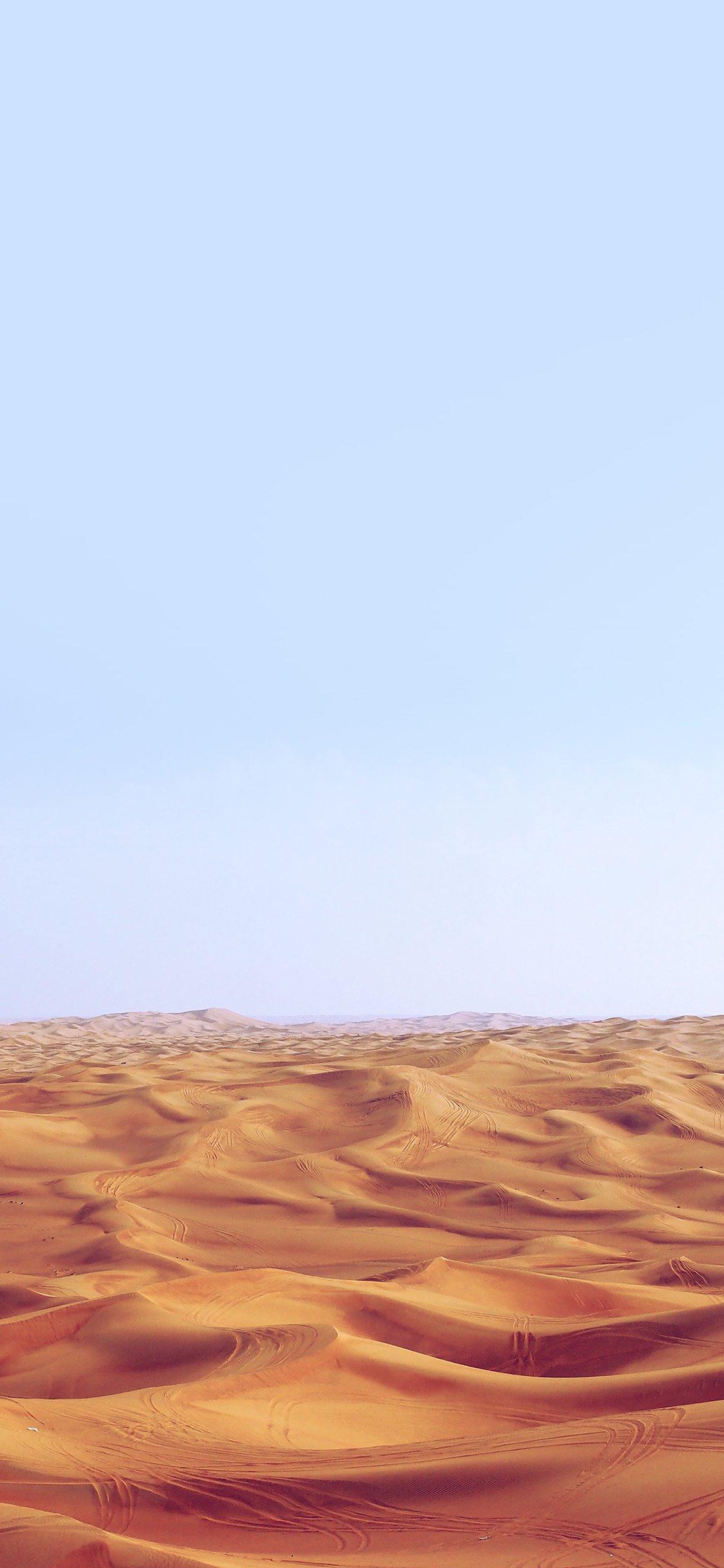 Desert minimal blue sky earth iPhone X wallpaper