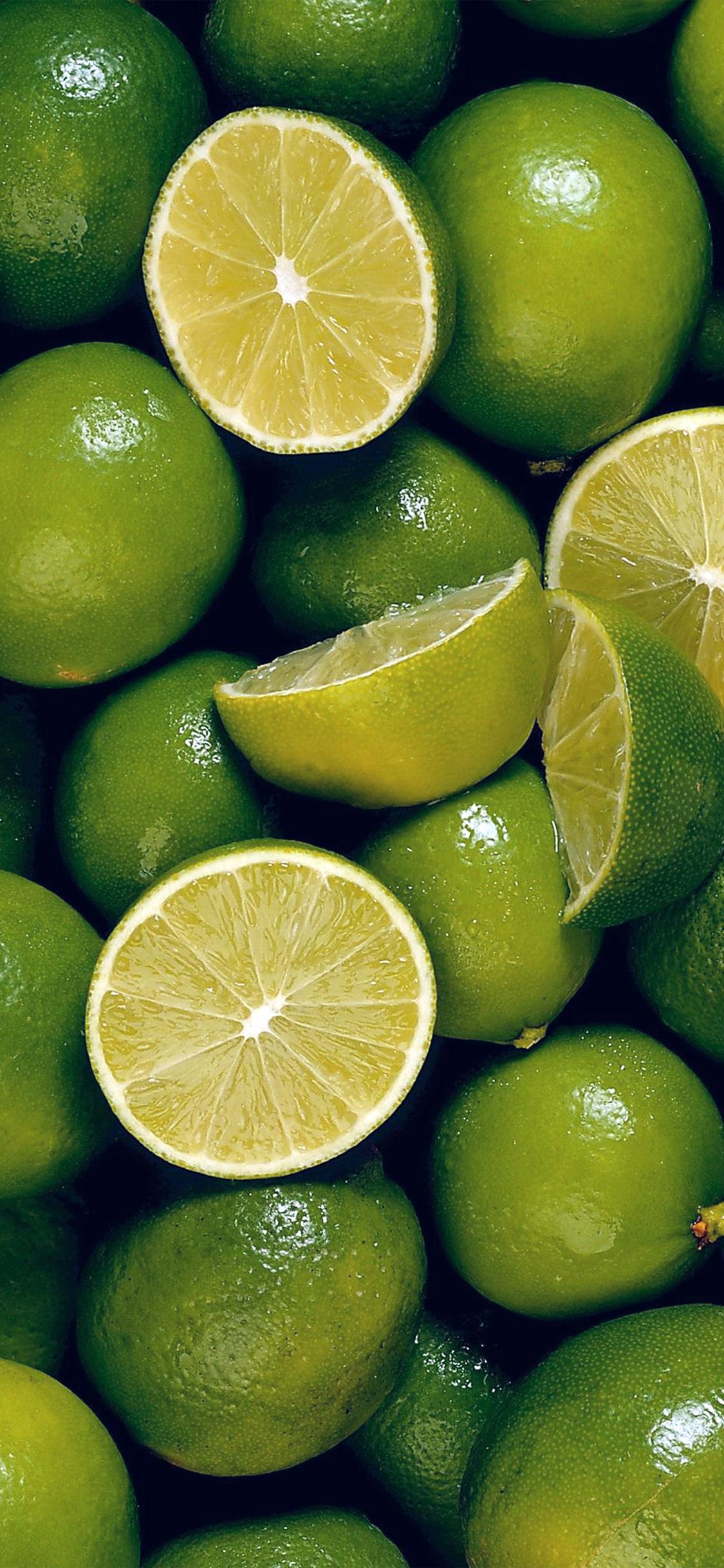 Line fruit green pattern iPhone X wallpaper