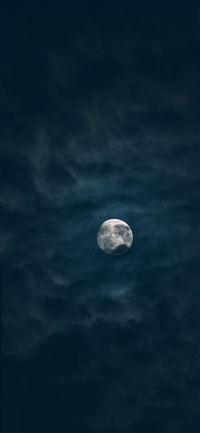 Moon sky dark night iPhone X wallpaper