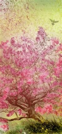 Flower spring art happy iPhone X wallpaper