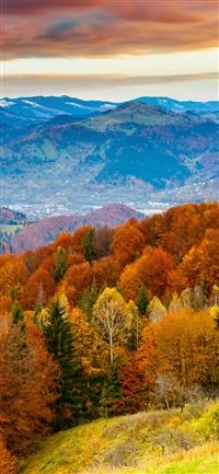Fall mountain iPhone wallpaper