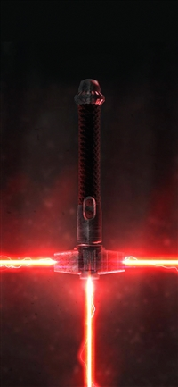 Lightsaber red art iPhone X wallpaper