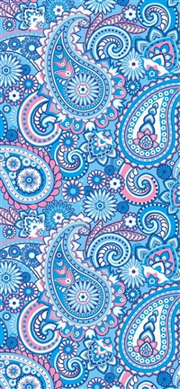 Decorative pattern blue art iPhone X wallpaper