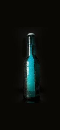 Beer bottles art iPhone X wallpaper