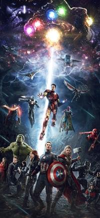 Marvel infinitywar avengers hero art iPhone X wallpaper