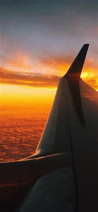 Fly travel sunset red air sky iPhone X wallpaper