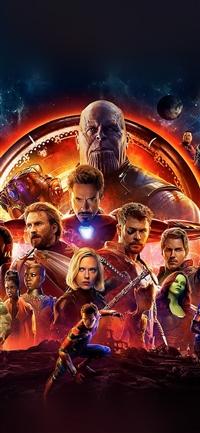 Infinity war marvel avengers hero art illustration iPhone X wallpaper