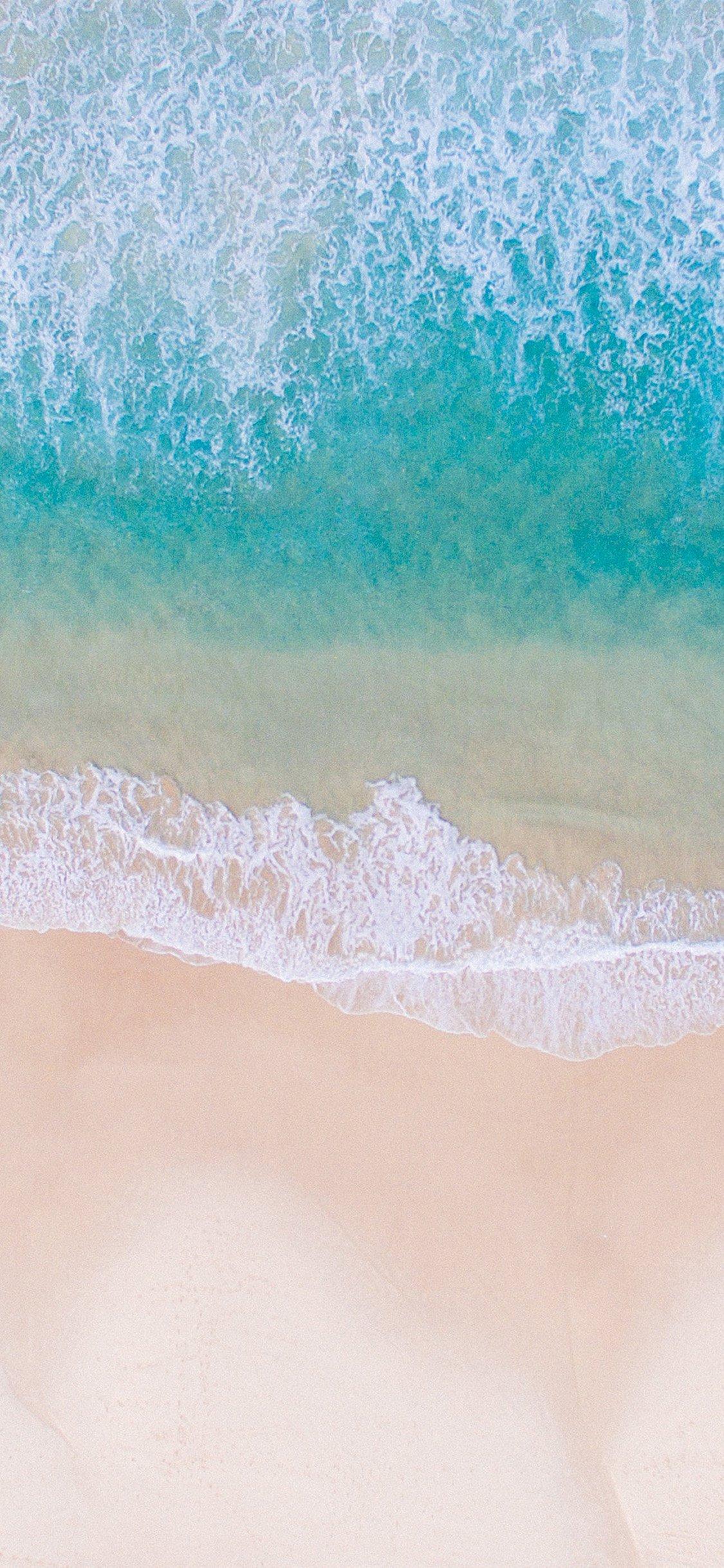 Sea beach water summer iPhone X wallpaper
