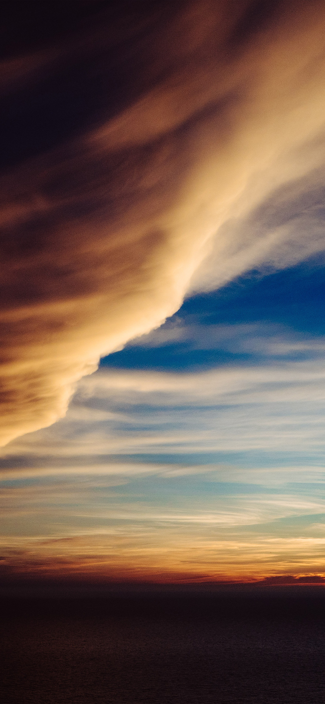 Cloud sky rainbow sunset iPhone X wallpaper